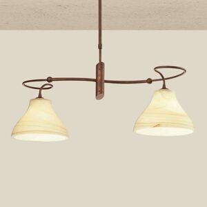 Závěsné světlo Mattia ve venkovském designu, 2zdr