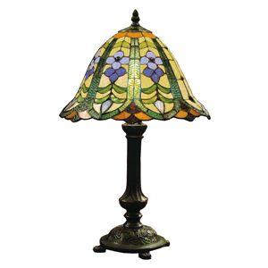 Květinová stolní lampa Eleanor v Tiffany stylu