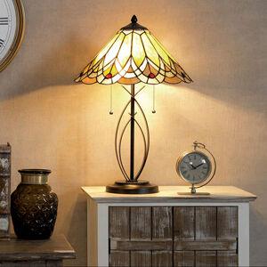 Clayre & Eef Stolní lampa 5186 s jantarovým stínidlem