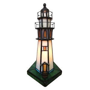 Clayre & Eef Dekorační světlo 6006 maják, styl Tiffany
