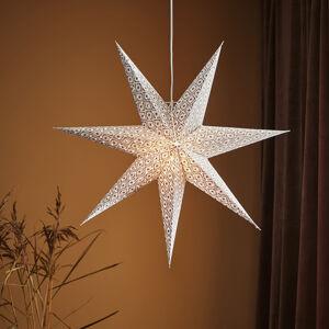 Markslöjd Dekorační hvězda Baroque k zavěšení, Ø 75 cm, bílá