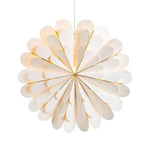 Markslöjd Dekorační hvězda Marigold závěsná, bílá, Ø 45 cm