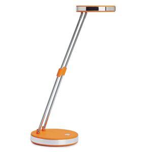 Trendová LED stolní lampa Puck oranžová