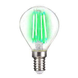 LED žárovka E14 4W Filament, zelená