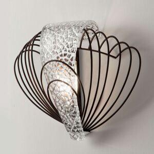 Filigránové nástěnné světlo Marrakech stříbro