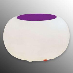 Stůl BUBBLE Indoor E27 žárovka + plsť fialová