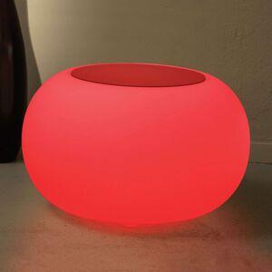Bubble LED ACCU Outdoor Tisch stůl, plsť červená