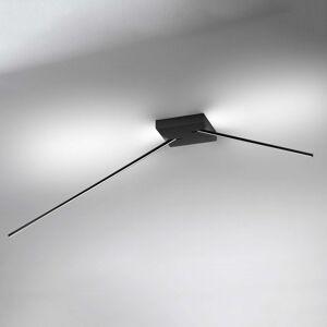 ICONE Spillo stropní světlo s LED, 2ramenné černé