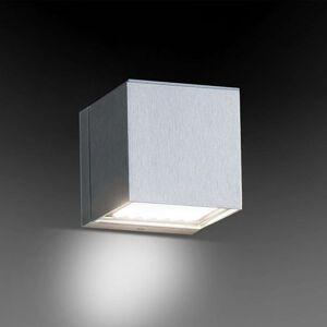 Milan Dau - krychlové nástěnné světlo, hliník