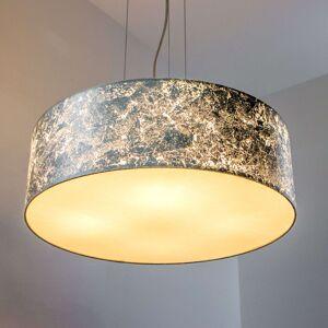 Závěsné světlo Aura stříbrné stínidlo, 4zdrojové