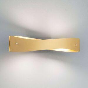 Lucande Lian LED nástěnné světlo, mosaz, černá