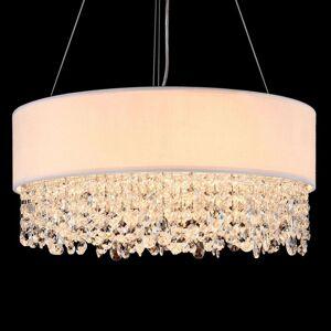 Zdobené textilní závěsné světlo Manfred