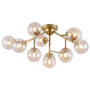 Skleněné kulové stropní světlo Dallas 12zdr zlaté