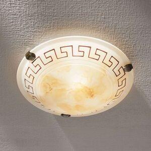 Skleněné stropní svítidlo Ivanka, kulaté, 30cm