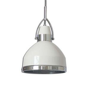 Bílé závěsné světlo Britta industriální design