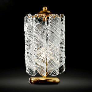 Stolní lampa Molle, 24 karátů pozlacená