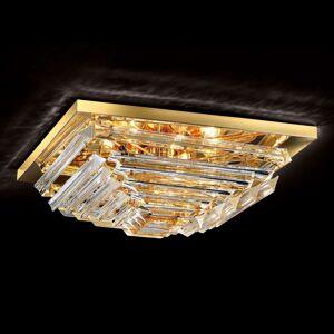 Pozlacené křišťálové stropní světlo Losanghe 55 cm