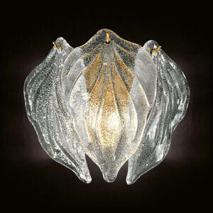 Skleněné nástěnné světlo Foglie ze skla Murano
