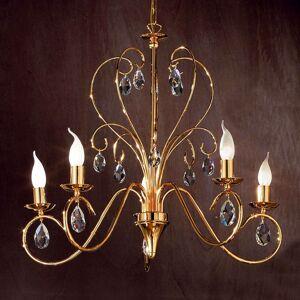 Půvabný lustr FIORETTO 5 žárovek, zlatý