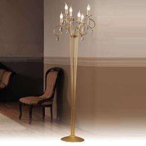 Stojací lampa Violetta zlaté barvy