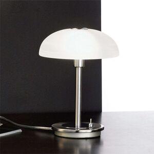 Timon - stolní lampa s páčkovým spínačem, nikl