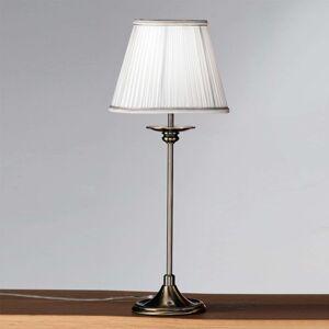 Klasická stolní lampa Ellen s plisovaným stínidlem