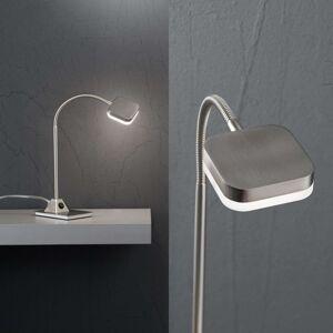 Stolní lampa LED Tobias, nikl-mat