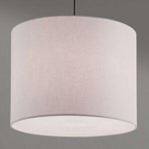 Závěsné svítidlo Artak s bílým látkovým stínidlem