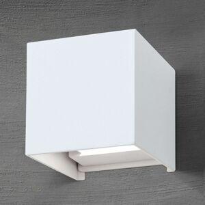 LED venk. nást. světlo ve tvaru kostky Cube v bílé