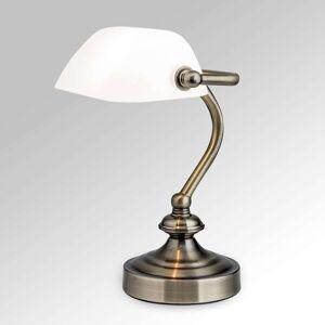 Klasická stolní lampa Zora se skleněným stínidlem