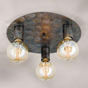 3žárovkové stropní světlo Rati ve stylu vintage