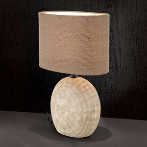 Keramická stolní lampa Ethno 38 cm hnědá, noha