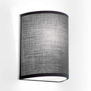 Nástěnné světlo Ufo lampa s lněným stínidlem šedé