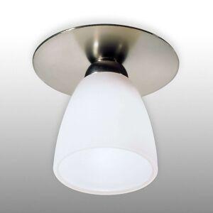 Podhledové svítidlo ARTE nikl stínidlo bílé