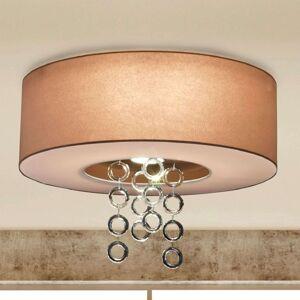 Ikarus - stropní světlo s křišťálovými kroužky