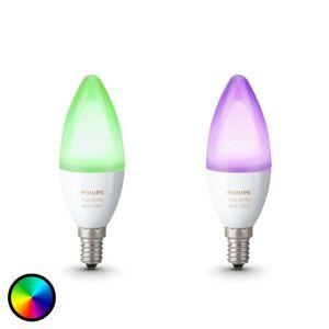 Svítilna Philips Hue Svíčka RGBW E14 6,5 W sada 2