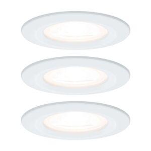 Paulmann 3x bodové svítidlo Nova kulaté, IP44 bílé
