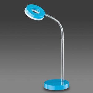 Modrá stolní lampa LED Rennes