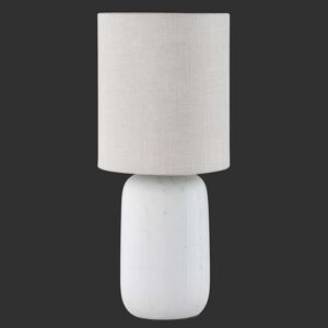Stolní lampa Clay barvy Cappuccino s textilem