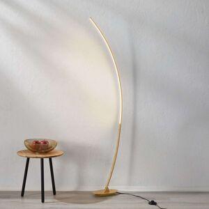 Obloukové stojanové LED svítidlo Nalevi, zlato