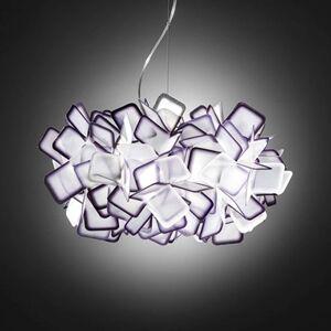 Slamp Clizia - designové závěsné světlo, fialové