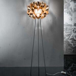 Slamp Flora - designová stojací lampa, měděná