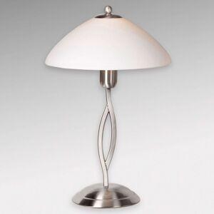 Stolní lampa Capri výška 45 cm ocel/bílá