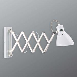 Vytahovací kovové nástěnné světlo Kordian, bílé