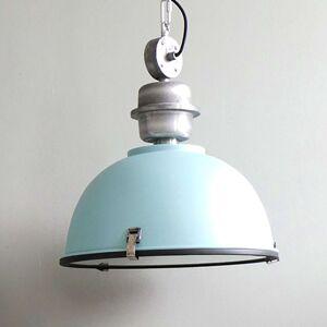 Světle modré průmyslové závěsné světlo Bikkel