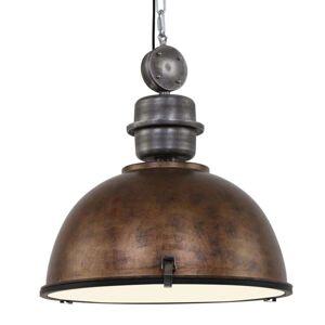 Hnědé závěsné světlo Bikkel XXL průmyslový design