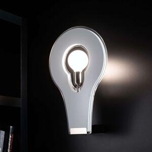 Designové nástěnné světlo Flat 50 bílé