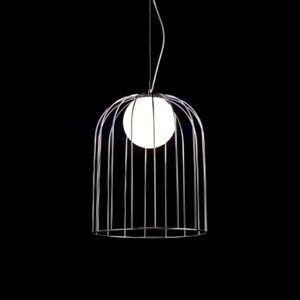 Velké designové závěsné světlo Kluvi, chrom