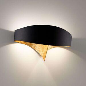 Černozlaté designové nástěnné světlo Scudo