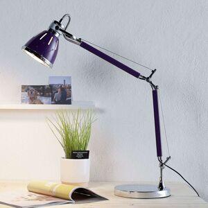Fialová stolní lampa Jerona